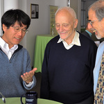 Tadashi Tokieda, Elwyn Berlekamp, and David Eisenbud at MSRI