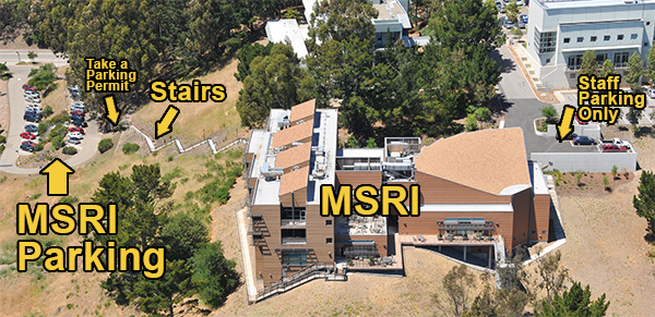 If The MSRI Parking Becomes Filled Guests Are Welcome To Park In UC Berkeley Fee Based Lot More Information Below Or Along Grizzly Peak Blvd